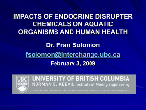 impacts of metals on aquatic ecosystems and human