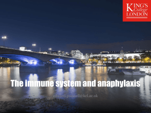 Anaphylaxis and the immune system - practice