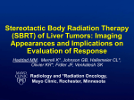 Stereotactic Body Radiation Therapy of Liver Tumors