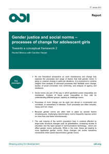 Gender justice and social norms – processes of change for