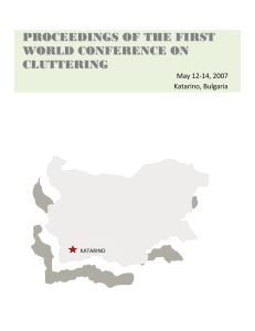 proceedings of the first world conference on cluttering