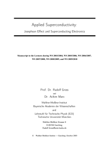 Applied Superconductivity - Walther Meißner Institut