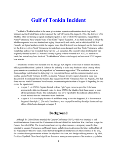 Mil Hist – VN Gulf of Tonkin Incident
