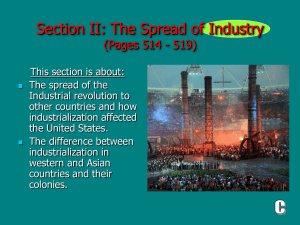 (Section II): The Spread of Industry