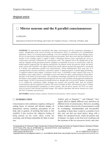 Mirror neurons and the 8 parallel consciousnesses