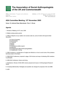Papers for Nov 05 - Association of Social Anthropologists of the UK