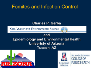 Fomites and Infection Control Presentation