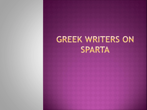 greek writers on sparta