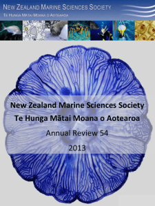 Number 54: 2012  - New Zealand Marine Sciences Society
