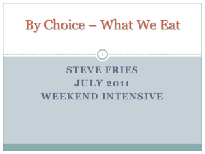 By Choice – What We Eat