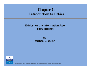 Introduction to Ethics Chapter 2
