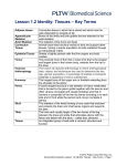 Lesson 1.2 Identity: Tissues – Key Terms