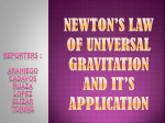 newton*s law of universal gravitation and it*s application