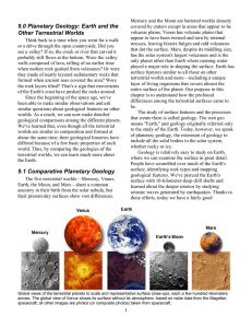 9.0 Planetary Geology: Earth and the Other Terrestrial Worlds 9.1