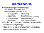 BE112A Topic 1: Introduction to Biomechanics