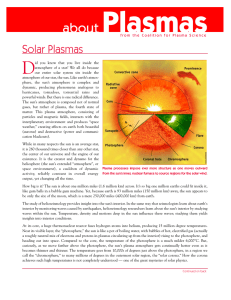 Solar Plasmas - Coalition for Plasma Science