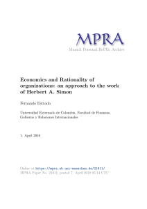 Economics and Rationality of organizations