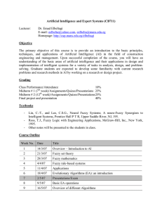 Artificial Intelligence and Expert Systems (CB711) Lecturer: Dr