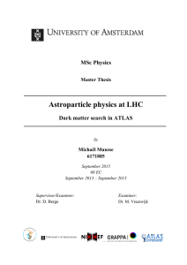 Astroparticle physics at LHC - Institute of Physics (IoP)