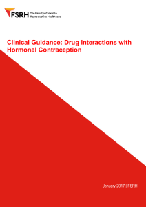 Drug Interactions with Hormonal Contraception