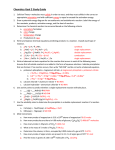 Chemistry Goal 2 Study Guide