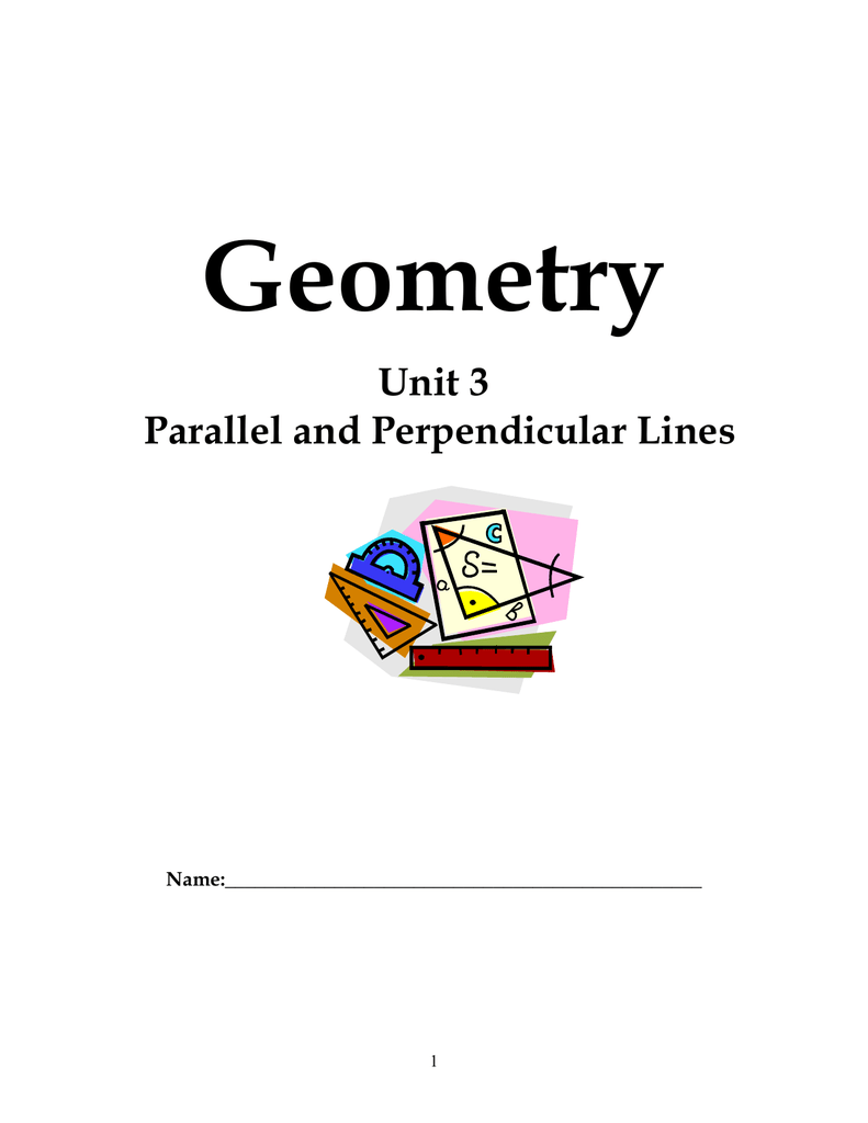 Unit 3 Parallel And Perpendicular Lines