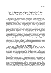 How Can International Relations Theorists Benefit from Reading