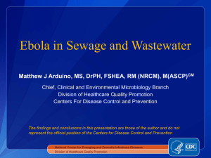 Ebola in Sewage and Wastewater