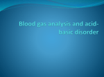 Blood gas analysis and acid