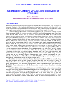 alexander fleming`s miraculous discovery of