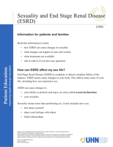 Sexuality and End Stage Renal Disease (ESRD)