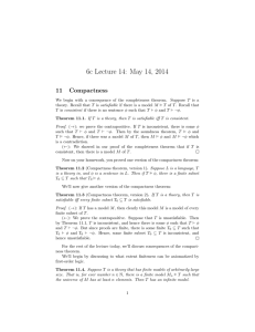 The Compactness Theorem for first-order logic