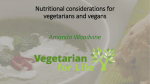 Nutritional considerations for vegetarians and vegans