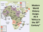 Modern World History Assign. #5-2 *Africa in the 20th Century*