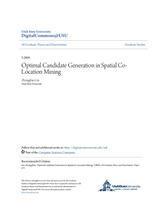 Optimal Candidate Generation in Spatial Co
