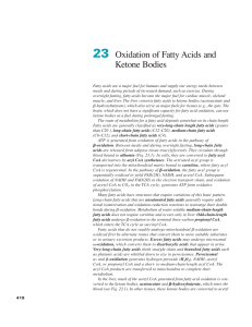 Ch23-Oxidation of Fatty Acids and Ketone Bodies
