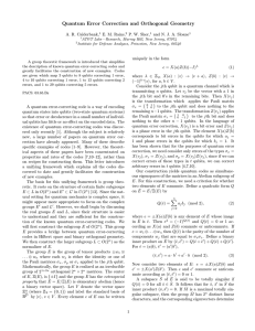 Quantum Error Correction and Orthogonal Geometry