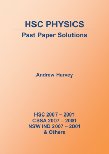 HSC Physics Past Paper Solutions