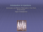 Introduction to Injections