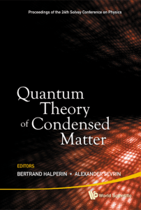 Quantum Theory of Condensed Matter (260 Pages)