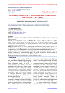 Relationship between TSH, T4, T3 and Prolactin in overweight and