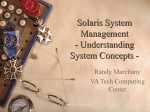 Solaris System Management - Understanding System Concepts -