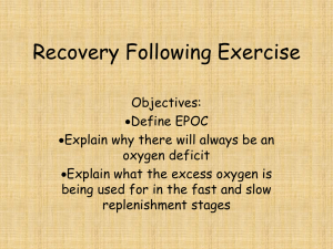 Recovery Following Exercise