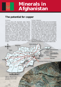 Minerals in Afghanistan - British Geological Survey