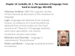 Chapter 14: Corballis, M. C. The evolution of language: From hand