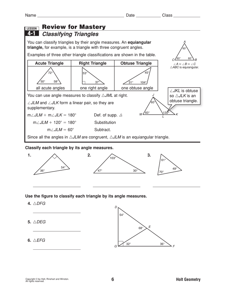 Worksheets Classify Triangles Worksheet classifying triangles
