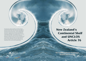 New Zealand`s Continental Shelf and UNCLOS