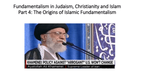 Fundamentalism in Judaism, Christianity and Islam Part 4: Islamic