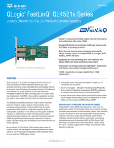 Data Sheet: QLogic FastLinQ QL4521x Series