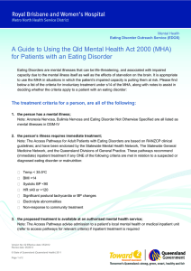 A Guide to using the Qld Mental Health Act 2000 (MHA) for Patients